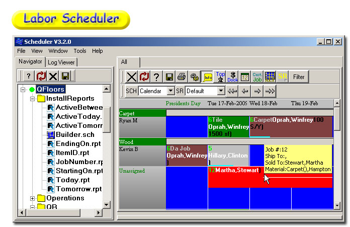 Winsched software corp for Qfloors